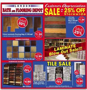 12mm Laminate Flooring starting from $1.39 sqft London Ontario image 6