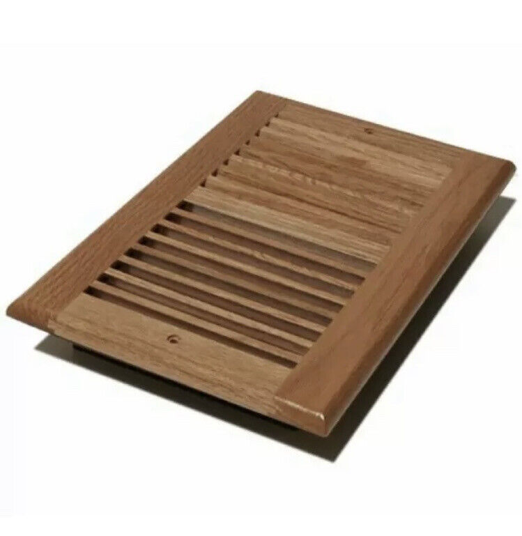 """(1) ONE Decor Grate WL610W-N Wall Ceiling Register 6"""" x 10"""" Solid Oak Natural"""