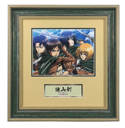 Isayama Hajime Attack on Titan hand signed autograph photo with coa