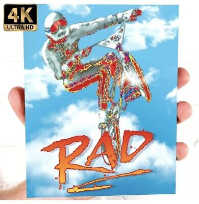 RAD (1986) Blu-Ray *Limited 1/4000 *Cult 80's BMX Action! *w/RARE 3-D SLIPCOVER!
