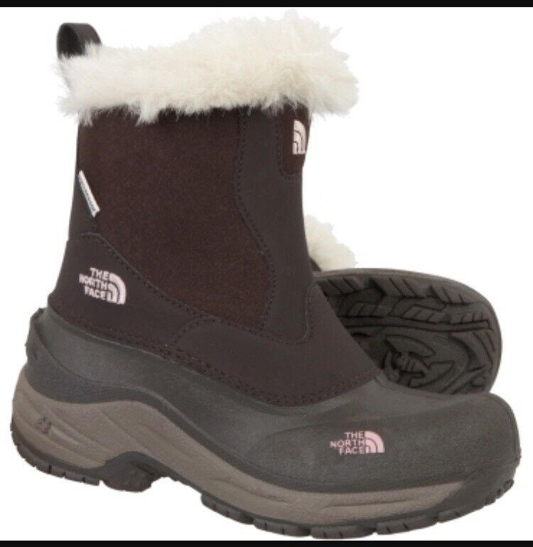 North face Greenland zip brown/pink UK 2 girls boots brand new boxed