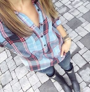 OLD NAVY PLAID POPOVER SHIRT-BRAND NEW WITH TAGS!