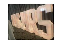 LED letters for hire