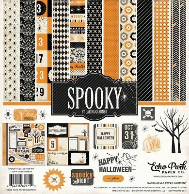 Halloween Falls Park (Echo Park 12x12 Spooky Happy Halloween Fall Trick or Treat Scrapbook Paper)