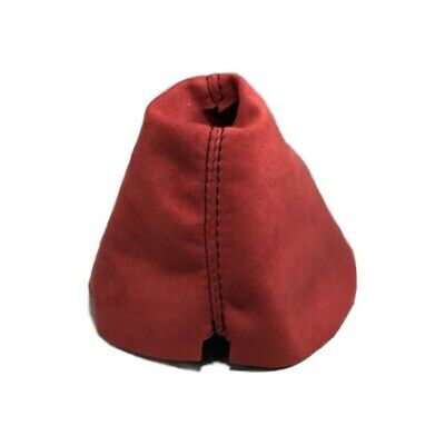 Fits 09+ Nissan 370z Shift Boot Red Suede Black Stitching
