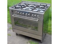 Delonghi Professional line Stainless Steel Dual Fuel Range Cooker