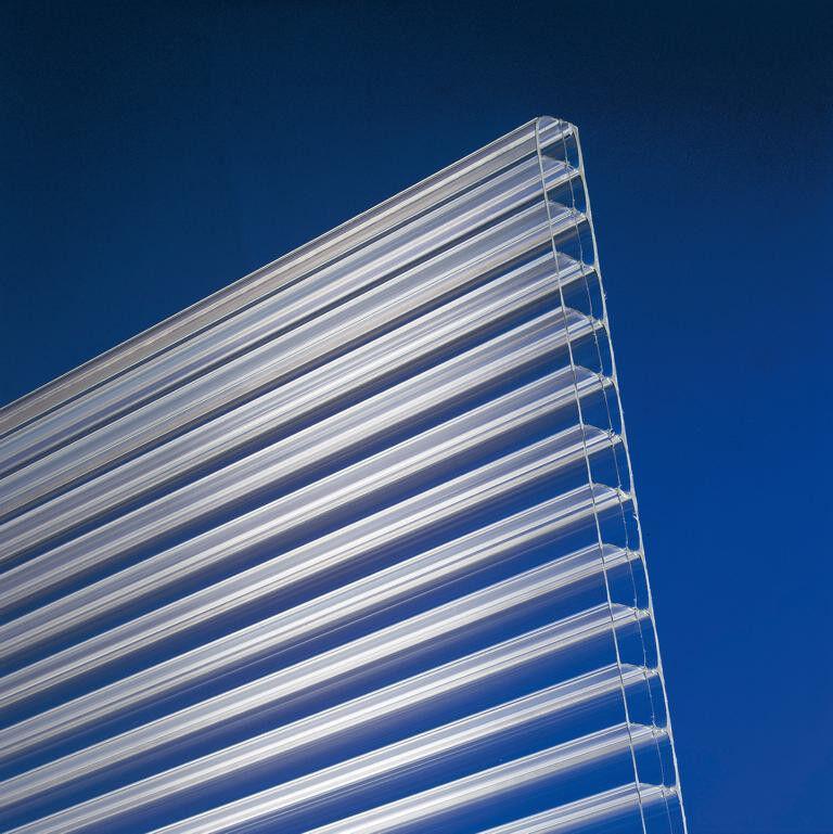 Terrassendach Komplettdach Terrassenüberdachung Stegplatten 16mm klar opal braun