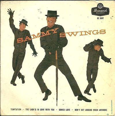 "SAMMY DAVIS JR Swings EP vinyl record 7"" single PIC SLEEVE Rat Pack Las Vegas"