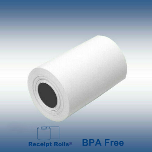 "2 1/4"" x 60 BPA Free Thermal Paper for Debit/Credit Card Machine - 50 Rolls"