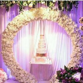 Event Decorating, chair covers sashes centrepiece backdrops chocolate fountain birthday party .ect.
