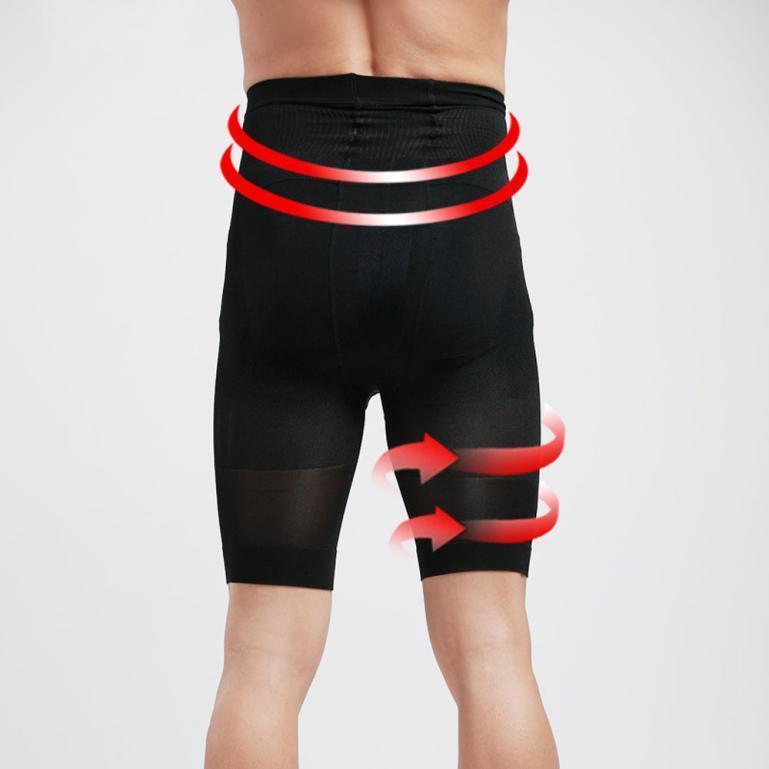 Men Shapewear Tight Bodysuit  Pants Pants Fat Burning Slim Shape Sport Underwear