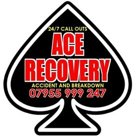 Ace Recovery Vehicle Recovery Service Accident Breakdown Service Motorway Car Van Motorbike 24 Hour