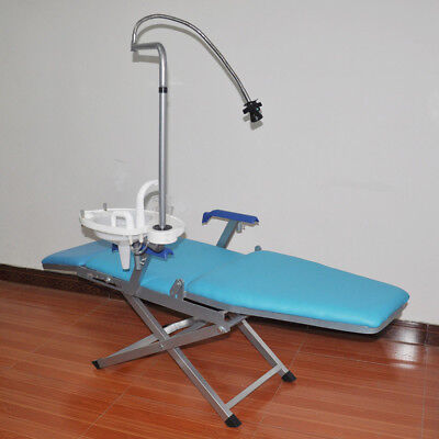 Portable Dental Folding Chair Set Mobile Treatment Unit Rechargeable Led Light