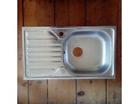 Stainless Steel Sink & Drainer (with reversible drainer) - new/unused.