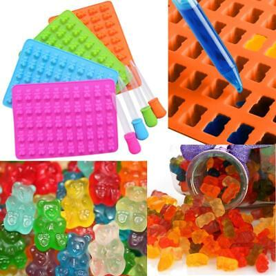 50 Cavity Silicone Gummy Bear Chocolate Mold Candy Maker Ice Tray Jelly Moulds ()