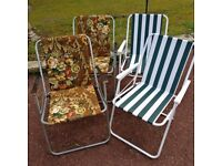 Garden chairs and sun loungers.