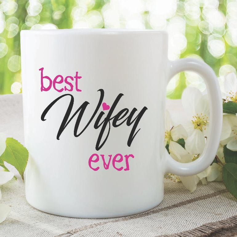 Meglio Wifey Mai Tazza Novità Regalo Anniversario Matrimonio Presente Wsdmug858 -  - ebay.it