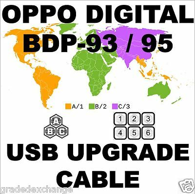 OPPO DIGITAL BDP-93 BDP-95 DIY MULTI CODE REGION FREE USB UPGRADE CABLE ABC KIT