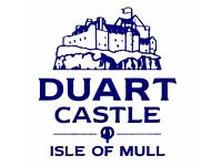 Seasonal Workers: Cook/Chef, Mini Bus Driver, Castle Guide, Shop Manager, Tearoom Assistants.