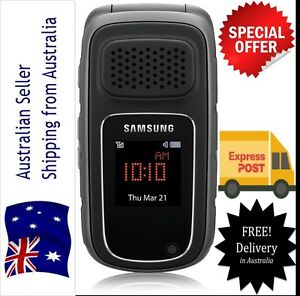 New Unlocked Samsung RUGBY III 3MP 3G GSM Flip Mobile Phone Tough water proof