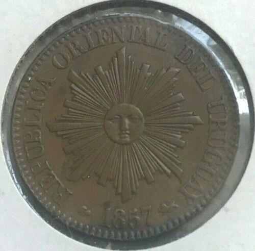 1857 Uruguay 5 Centesimos