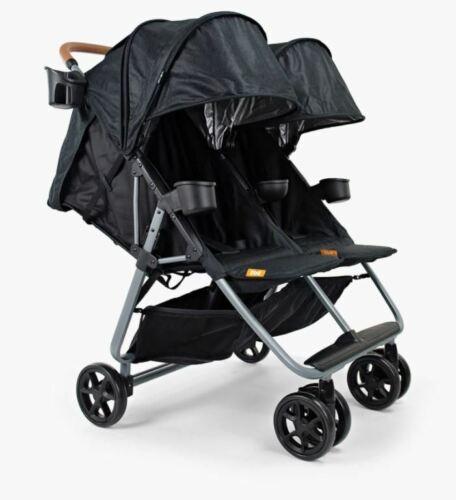 *NEW* ZOE XL2 Best Xtra Lightweight Double Stroller Black XL2-BNK Duo Twin