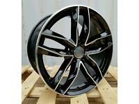 "2016 NEW 20"" AUDI RS6 BLACK EDITION ALLOY WHEELS X4 BOXED 5X112 A4 A5 A6 A7 A8 VW PASSAT SCIROCCO"