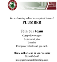 Wanted: Licensed Plumber