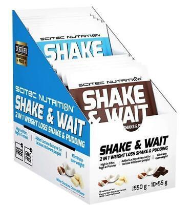 Scitec Shake & Wait abnehmen mit Shakes der Diät Shake zur Gewichtsreduktion