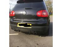 Golf gti quad mk5 exhaust with real carbo diffuser