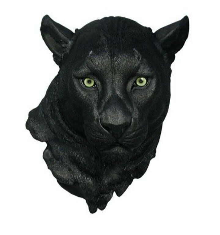 """Night Vision Panther Hanging Head Home Decor 17""""H"""