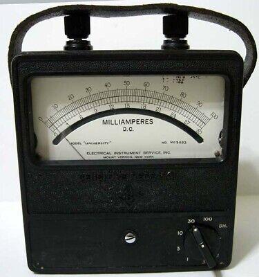 Sensitive Research Portable University 403052 Milliamperes Dc - Black Meter