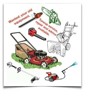 Wanted: lawnmower, snowblower etc. willing to pay up to $150