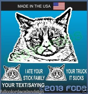 Grumpy-Cat-Decal-Sticker-With-Optional-Funny-Sayings-Your-Truck-Car-Sucks