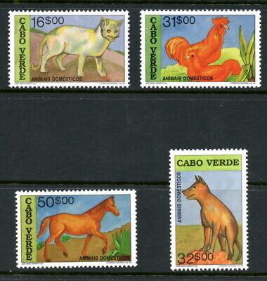 CAPE VERDE 633-36, 1992 DOMESTIC ANIMALS, MNH (CVE001)