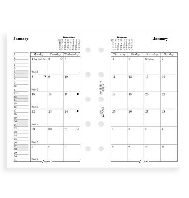 2021 Filofax Mini Month On Two Pages Diarycalendar - 68110