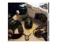 Canon 500d camera with many extras