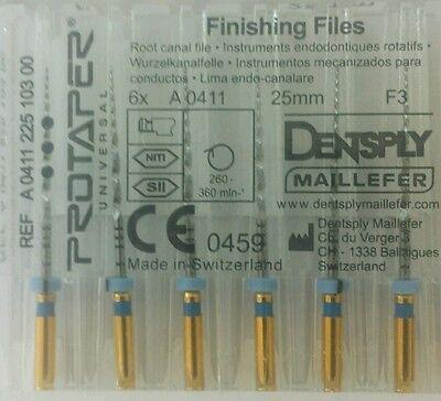 Dental Dentsply Rotary Protaper Universal Engine Niti Files 25 Mm F3