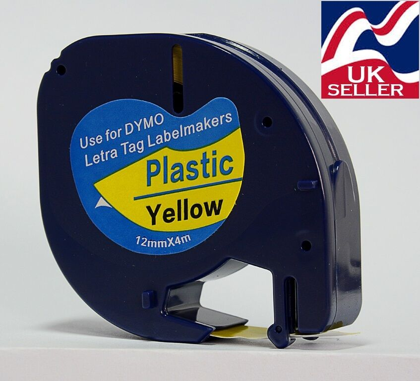 1-100 tape cartridge 91205 blue plastic 12mmx4m for DYMO LETRATAG label makers