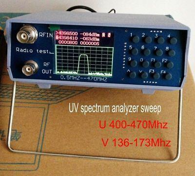 Uv Uhf Vhf Dual Band Spectrum Analyzer Bnc With Tracking Source Tuning Duplexer