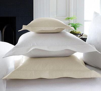 Sferra GRANA Ivory Boudoir Pillow Sham Cotton Silk Pique Matelasse Italy New Ivory Boudoir Pillow