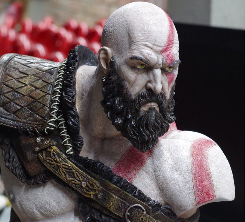 Details About God Of War 1 3 Aged Kratos Collectibles Limited Well Painted Bust Sculpture New