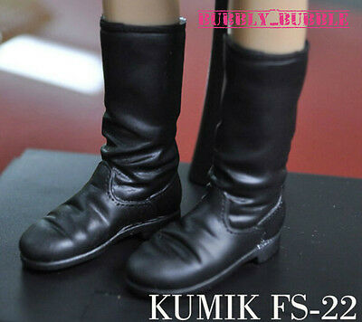 KUMIK 1/6 Black Widow Catwoman Boots FS22 For Hot Toys SHIP FROM USA (Hot Widow Boots)