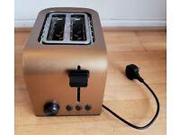 2 Slice Toaster - Gold & Black
