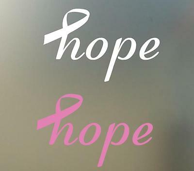 8  W Pink Ribbon Cancer Vinyl Decal Sticker Hope Surface Car  Rc Phone S129