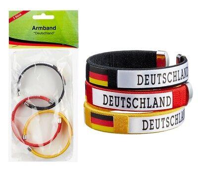 schland Fussball Armband Fanartikel WM EM Nationalmannschaft (Fußball-armband)