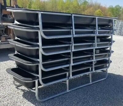 5 Ct Lot Of 10ft Bunk Feeder For Goats-sheep-cattle-horses-deer