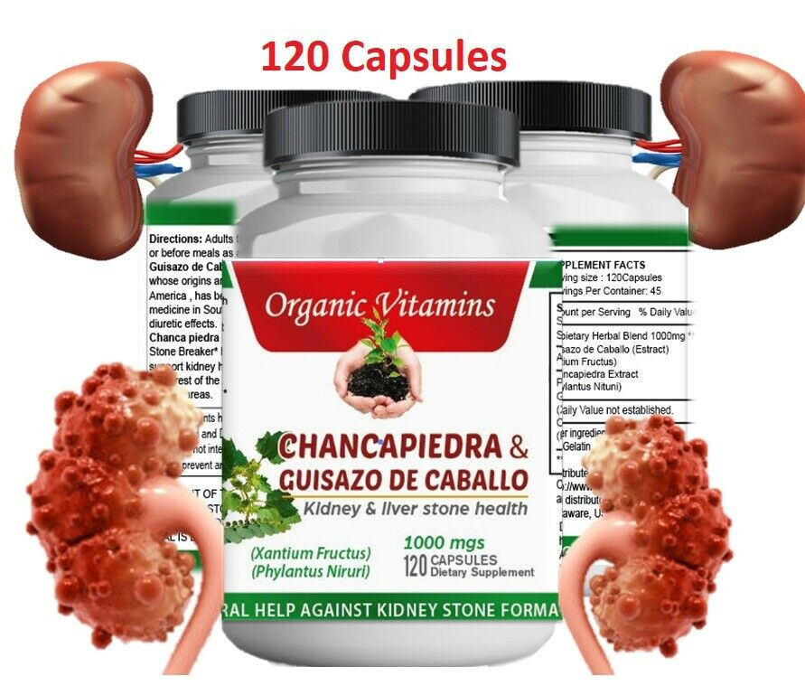 Chanca Piedra 1000mg 120 capsules (Stonebreaker)Peruvian Naturals Organic growth