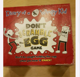 Diary of a wimpy kid scramble the egg board game