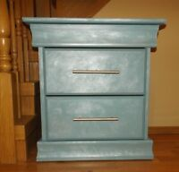 Moonlight glow 3 drawer bedside table